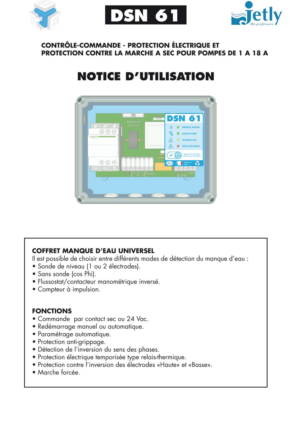 DSN 61, protection contre la marche à sec