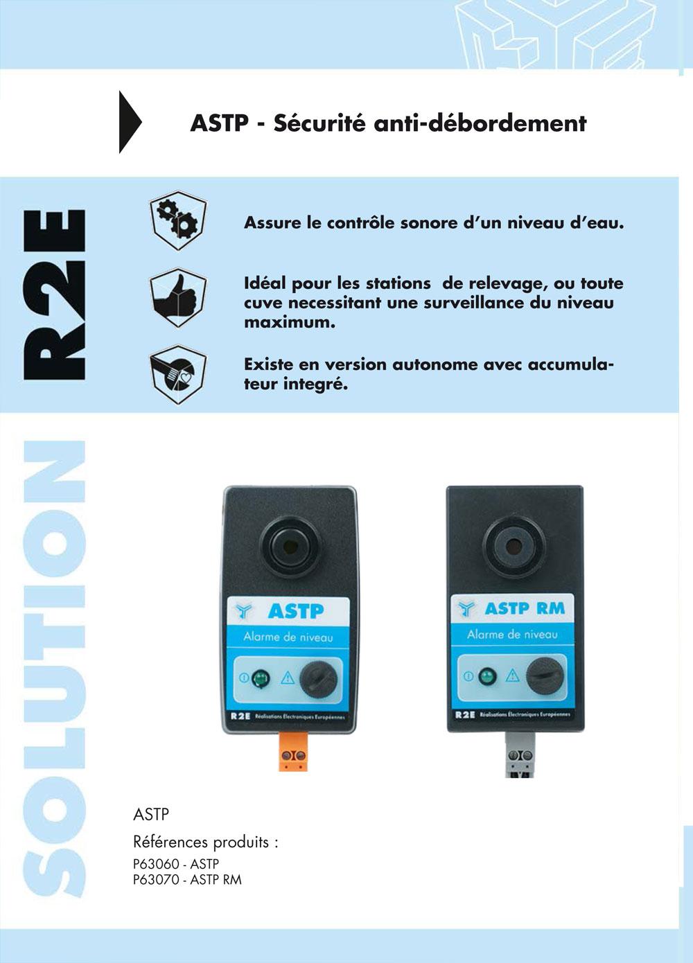 Brochure commercial de nos alarmes sonores, R2E