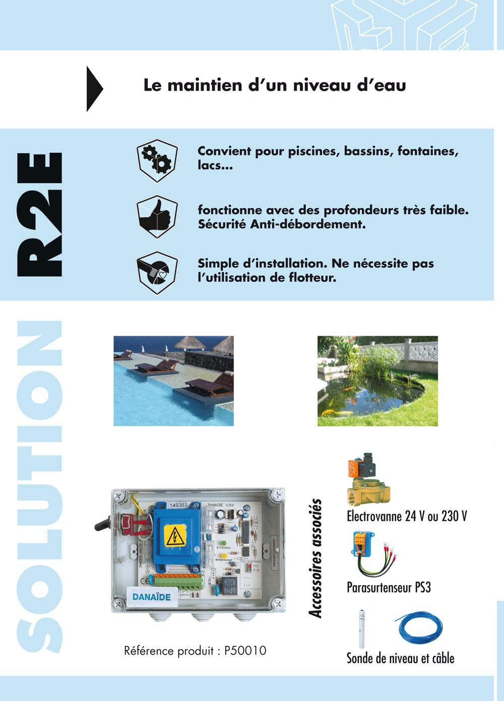 Brochure DANAÏDE, coffret protection pompes