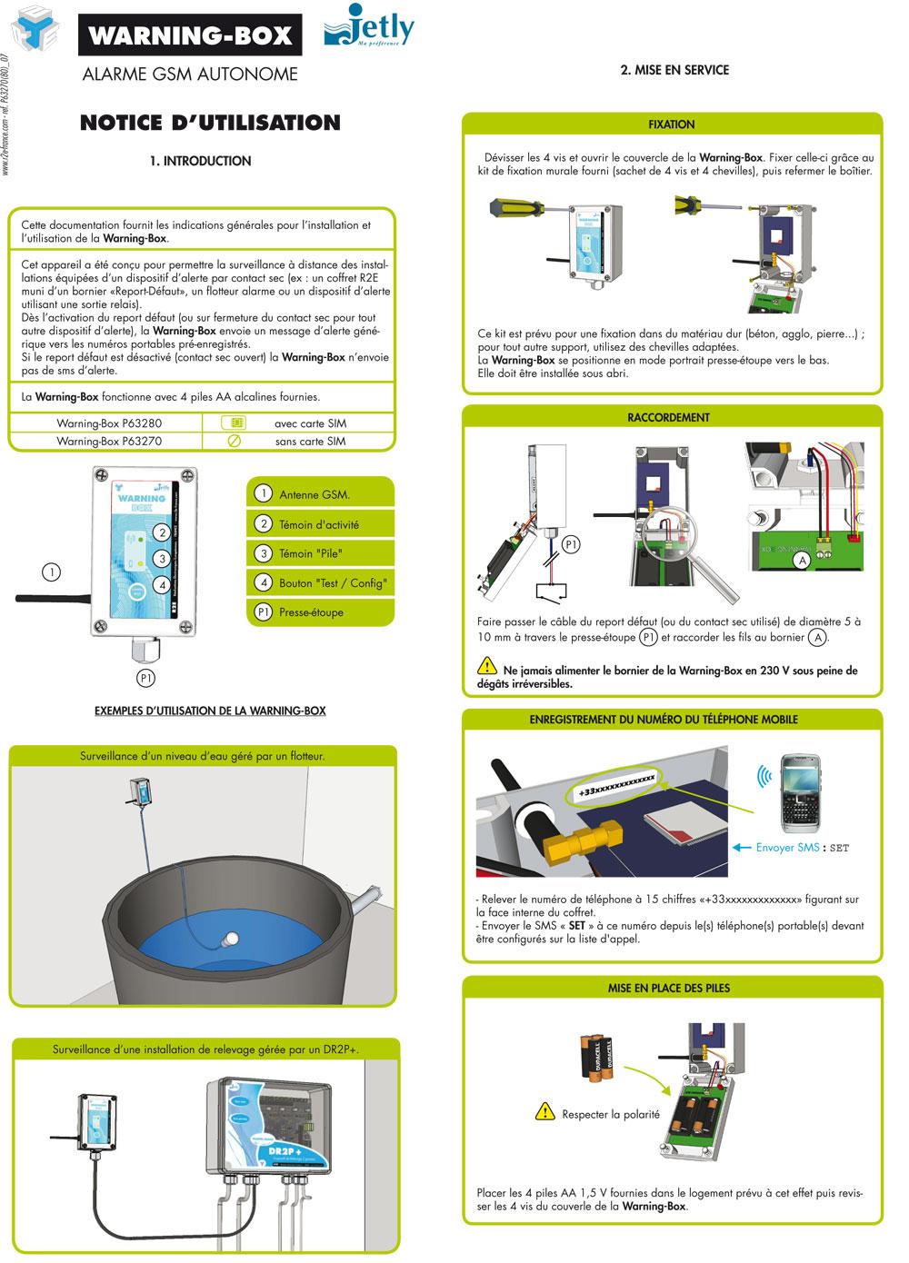 Notice alarme STP RM, bureau étude électronique